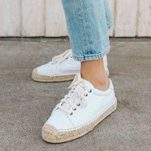 Soludos Platform Tennis White Espadrille Sneaker